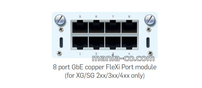 8 port GbE copper FleXi Port module