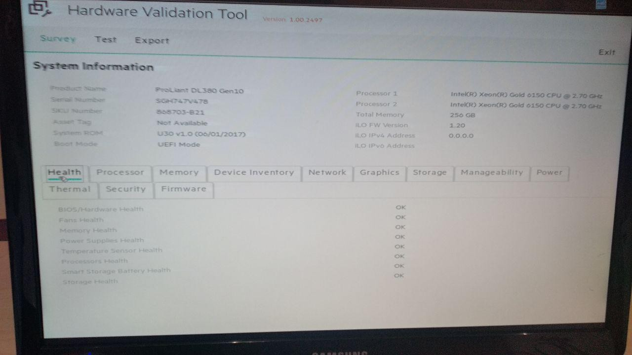 HPE Gen10 series components test