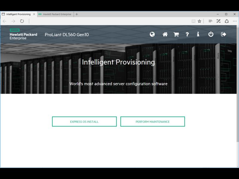 HPE Intelligent Provisioning