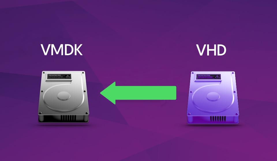 تبدیل دیسک های vhd به vmdk